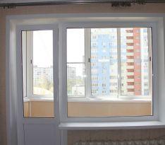 Балконный блок после ремонта: вид из комнаты
