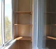 Полки для хранения после ремонта балкона