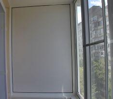 Глухая стена нового балкона после ремонта