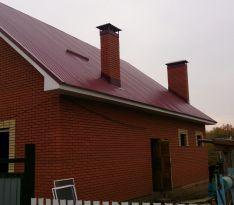 Остекление дома из красного кирпича