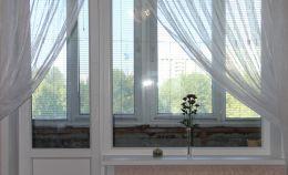 Балконный блок до ремонта: вид из комнаты