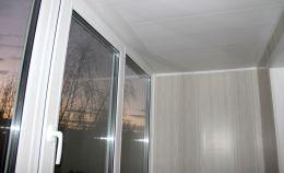 Распашные окна (теплое остекление) на балконе