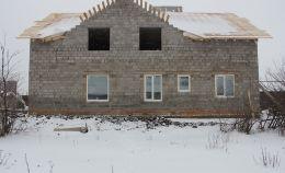 Остекление первого этажа дома из пеноблока
