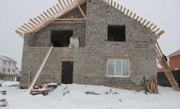 Остекление недостроенного дома из пеноблока