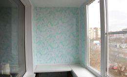 Глухая стена балкона: отделка ПВХ панелями