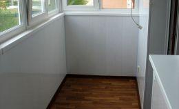 Теплое остекление балкона с ремонтом