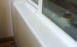 Подоконник холодного балкона