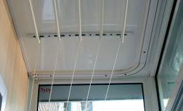 Установка сушилки для белья на балконе