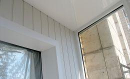 Внутренняя отделка угла балкона