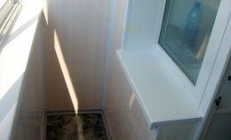 Балкон с холодным остеклением: этап сдачи объекта