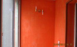 Отделка балкона с покраской стен