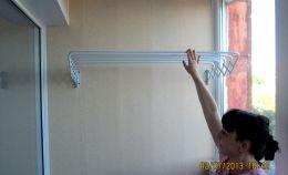 Полки для сушки белья на балконе