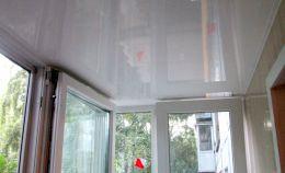 Потолок теплого балкона