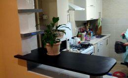 Совмещение кухни с балконом: вид изнутри