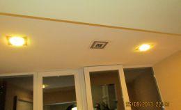 Отделка потолка на совмещенном балконе