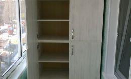 Шкаф для хранения из ДСП с 6 полками на лоджии
