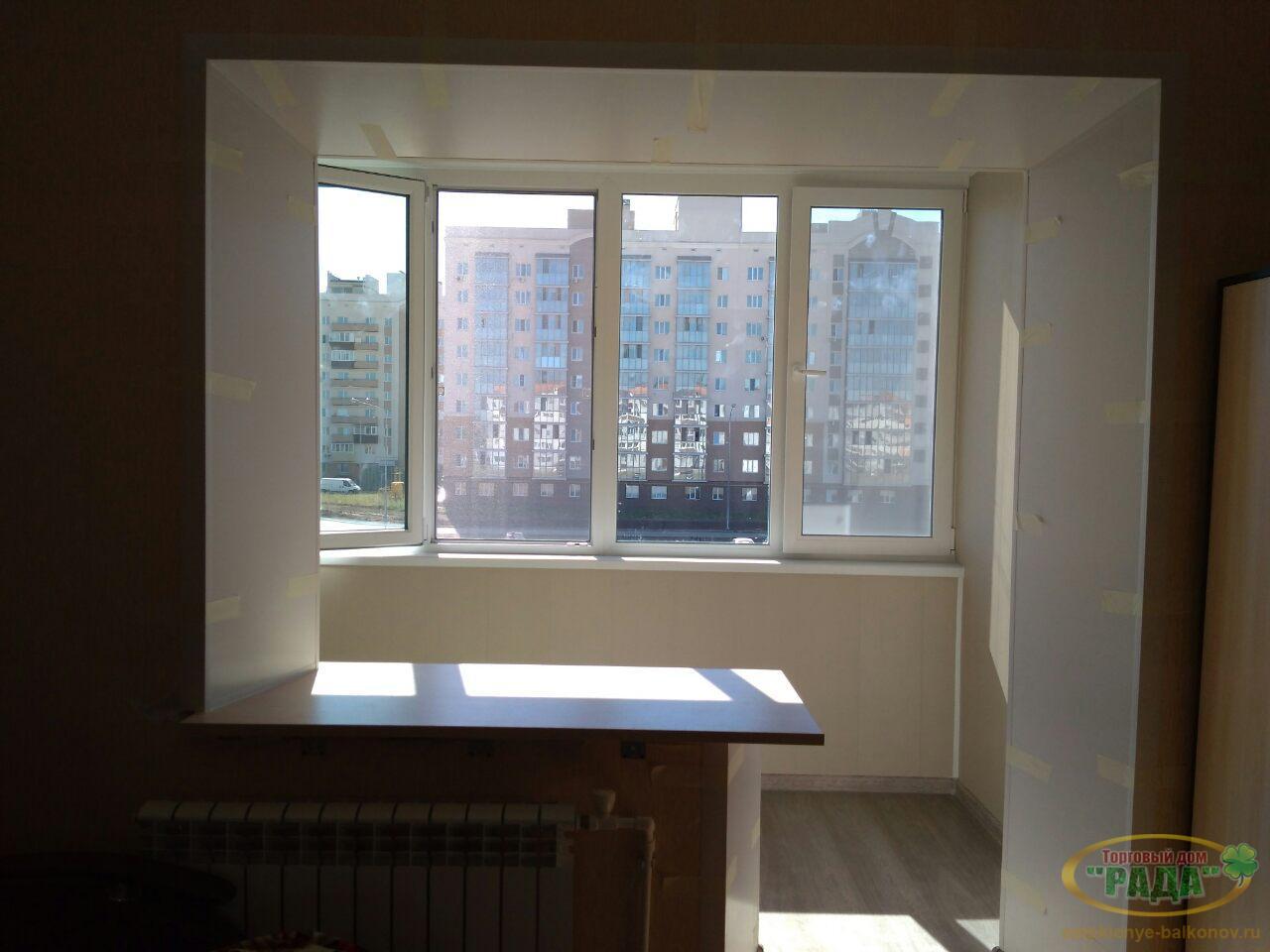 Фото внутренней отделки балконов и лоджий.